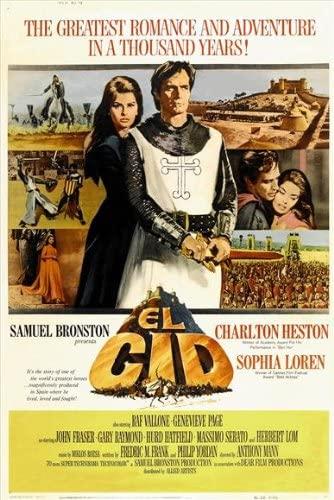 "Póster de la película ""El Cid"" de Anthony Mann."