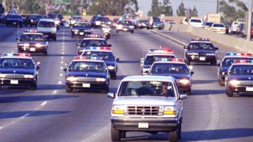 O.J. Simpson escapando en el Ford Bronco