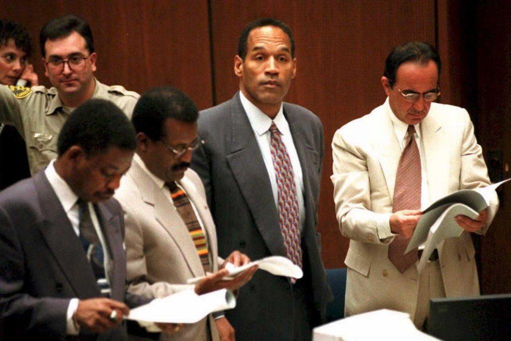 O.J. Simpson en el juicio