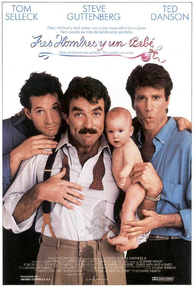 Poster Tres hombres y un bebé