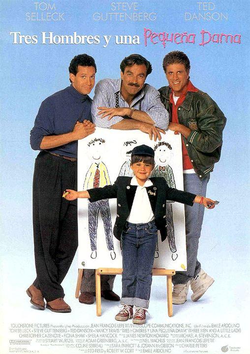 Poster Tres hombres y una pequeña dama