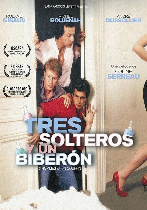 Poster Tres solteros y un biberón