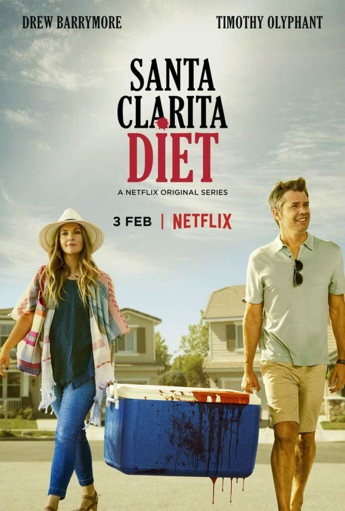 "Póster de serie de zombies ""Santa Clarita Diet""."