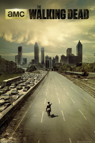"Póster de la serie de zombies ""The Walking Dead""."