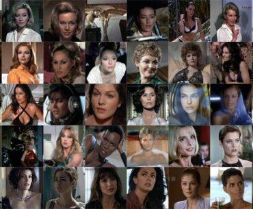 Mosaico de las mejores chicas Bond
