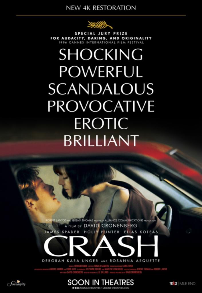 """Póster de la película erótica """"Crash""""."""