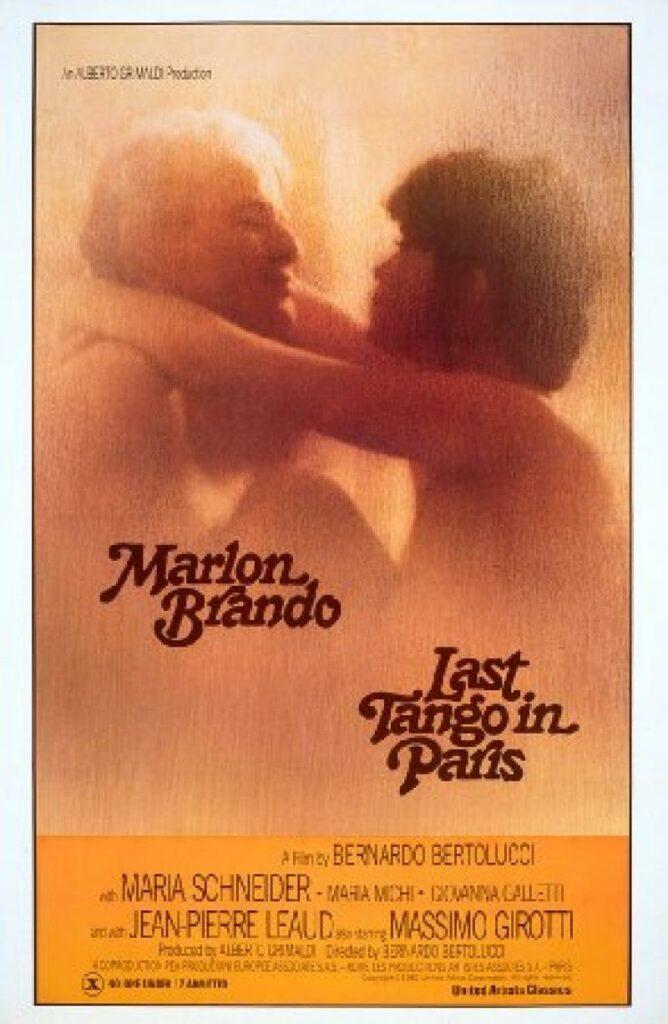 """Póster de """"El último tango en París""""."""
