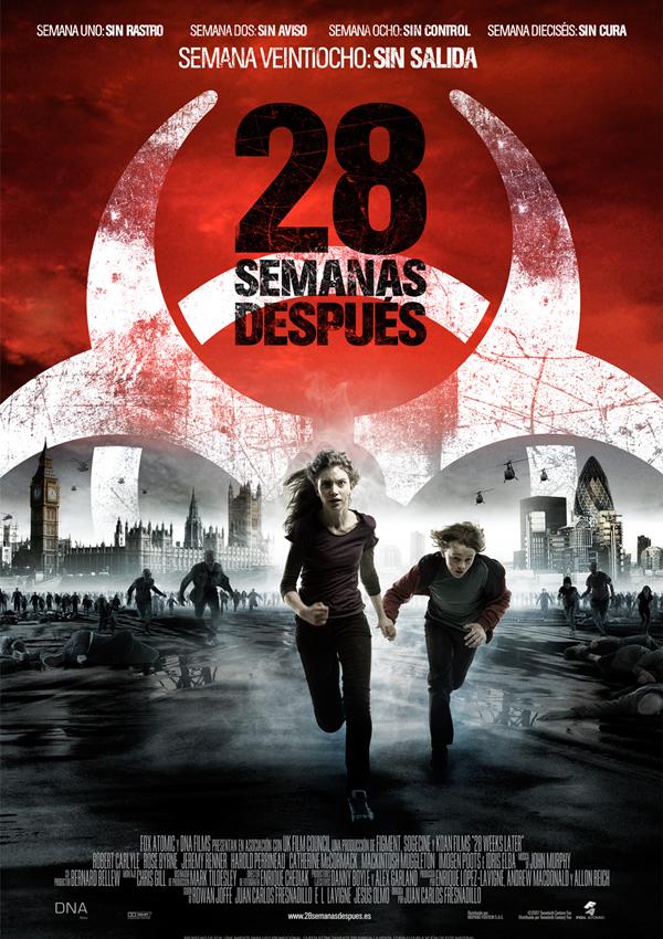 """Póster de """"28 semanas después""""."""