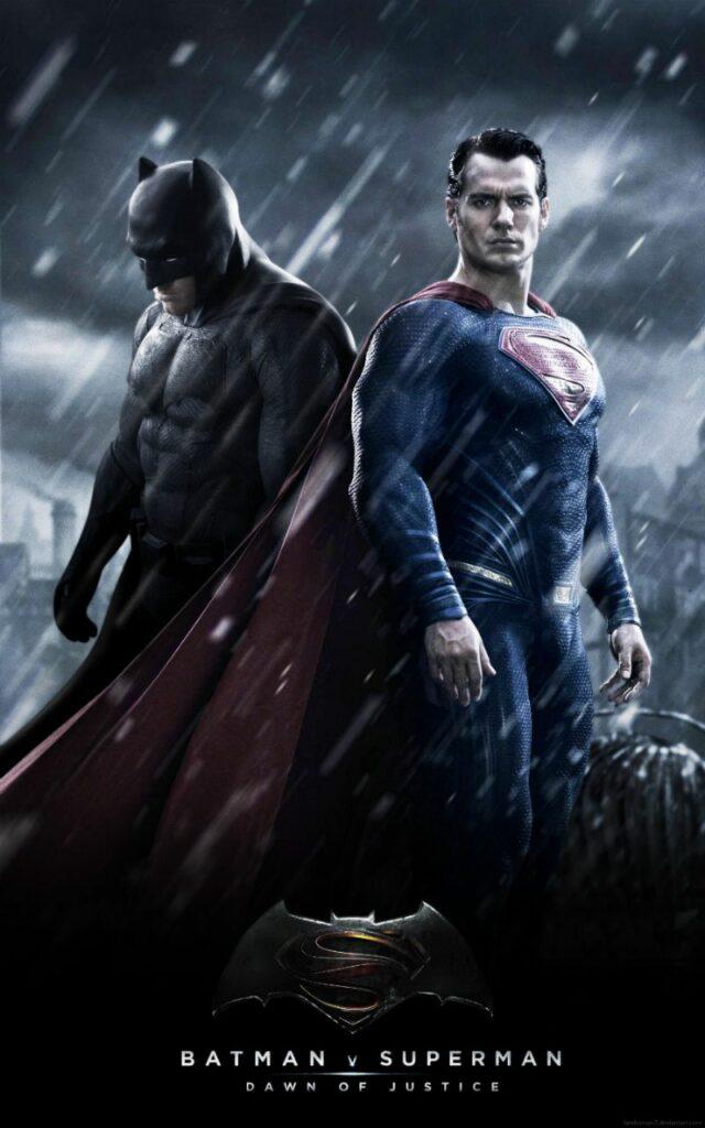 "Póster de ""Batman contra Supermán""."