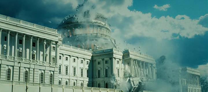 """Fotograma de """"La Jungla 4.0"""" en el que se destruye el Capitolio."""