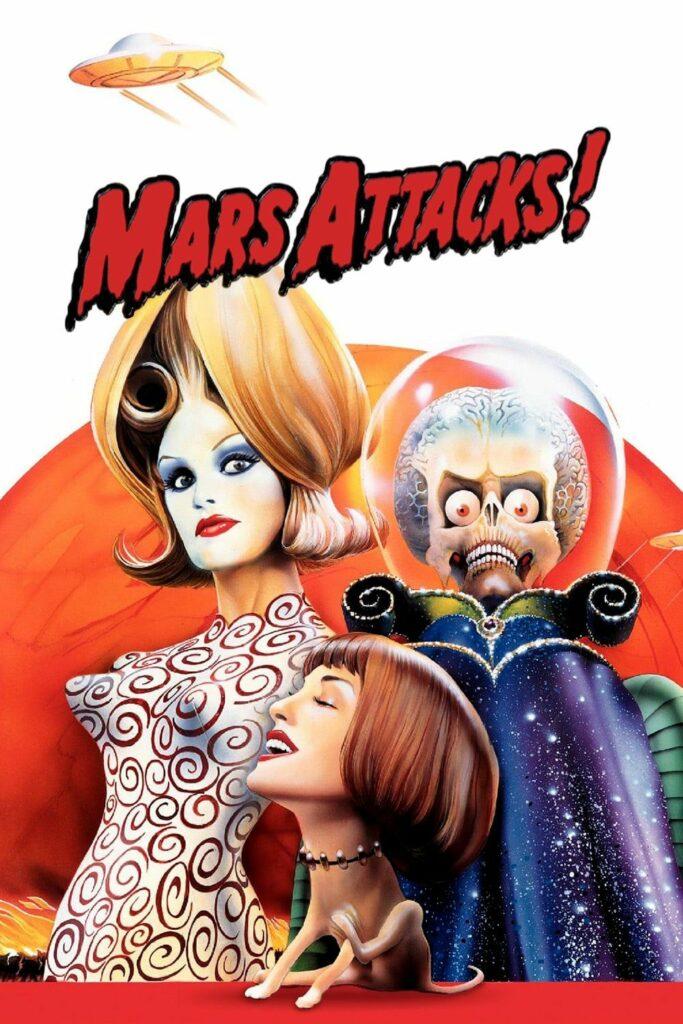 """Póster de """"Mars Attacks""""."""
