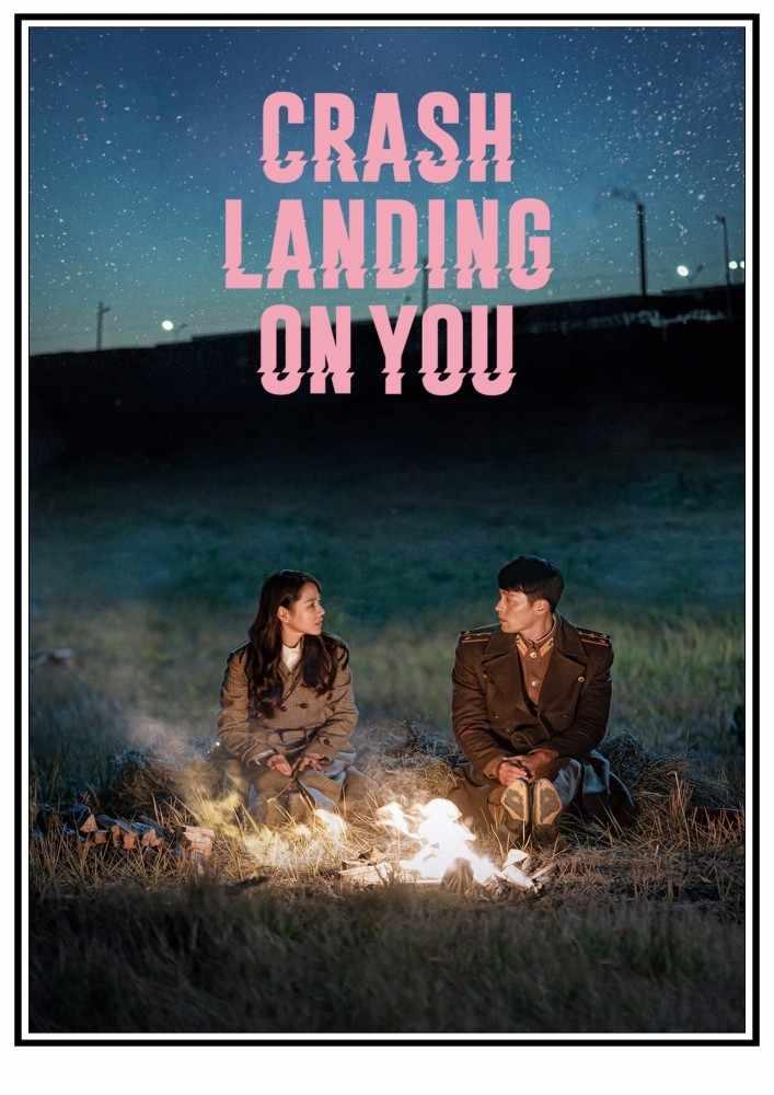 """Póster de la serie coreana """"Crash landing on you""""."""