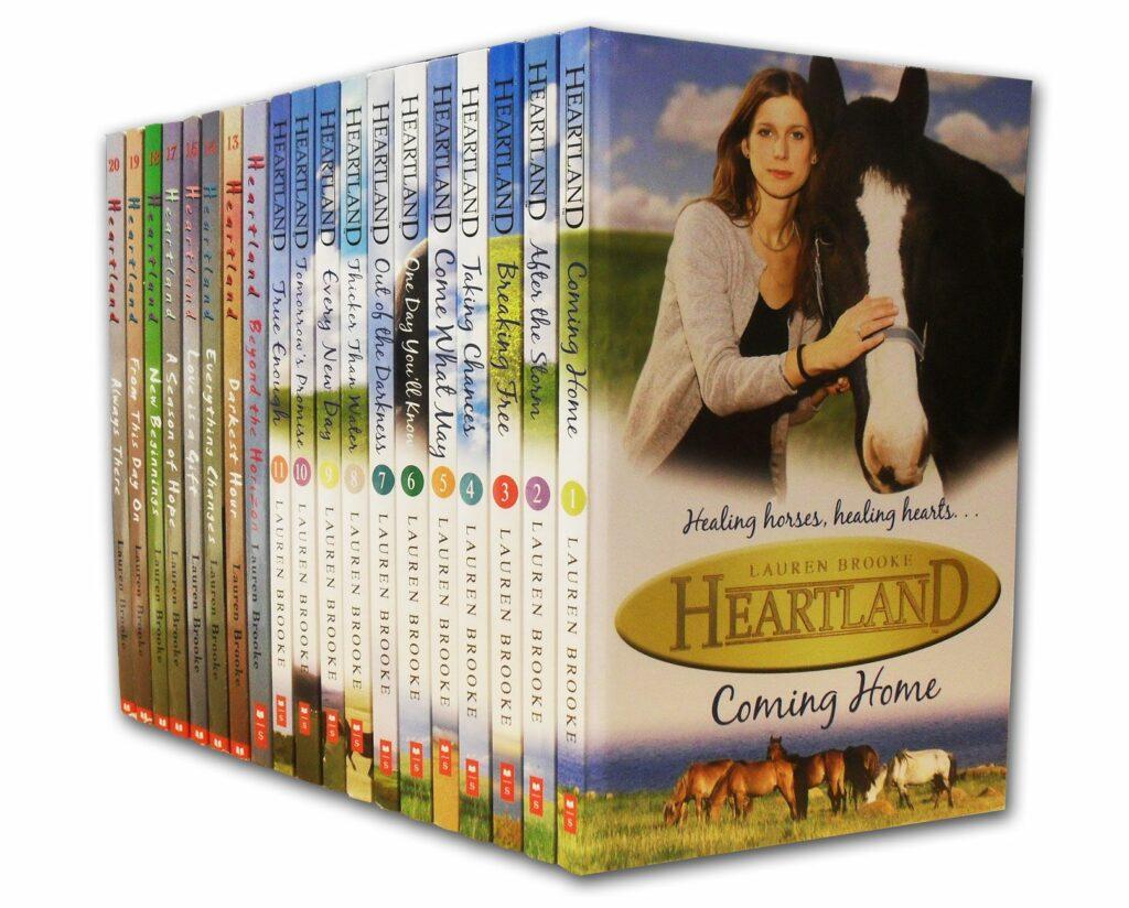 """Libros de """"Heartland""""."""