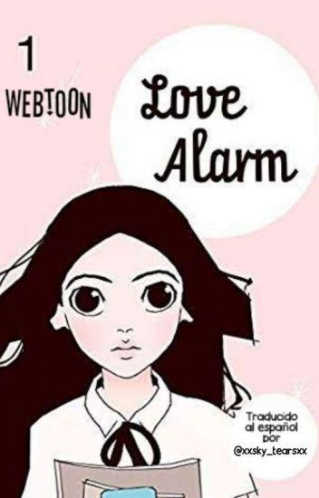 "Poster del webtoon de ""Love Alarm""."