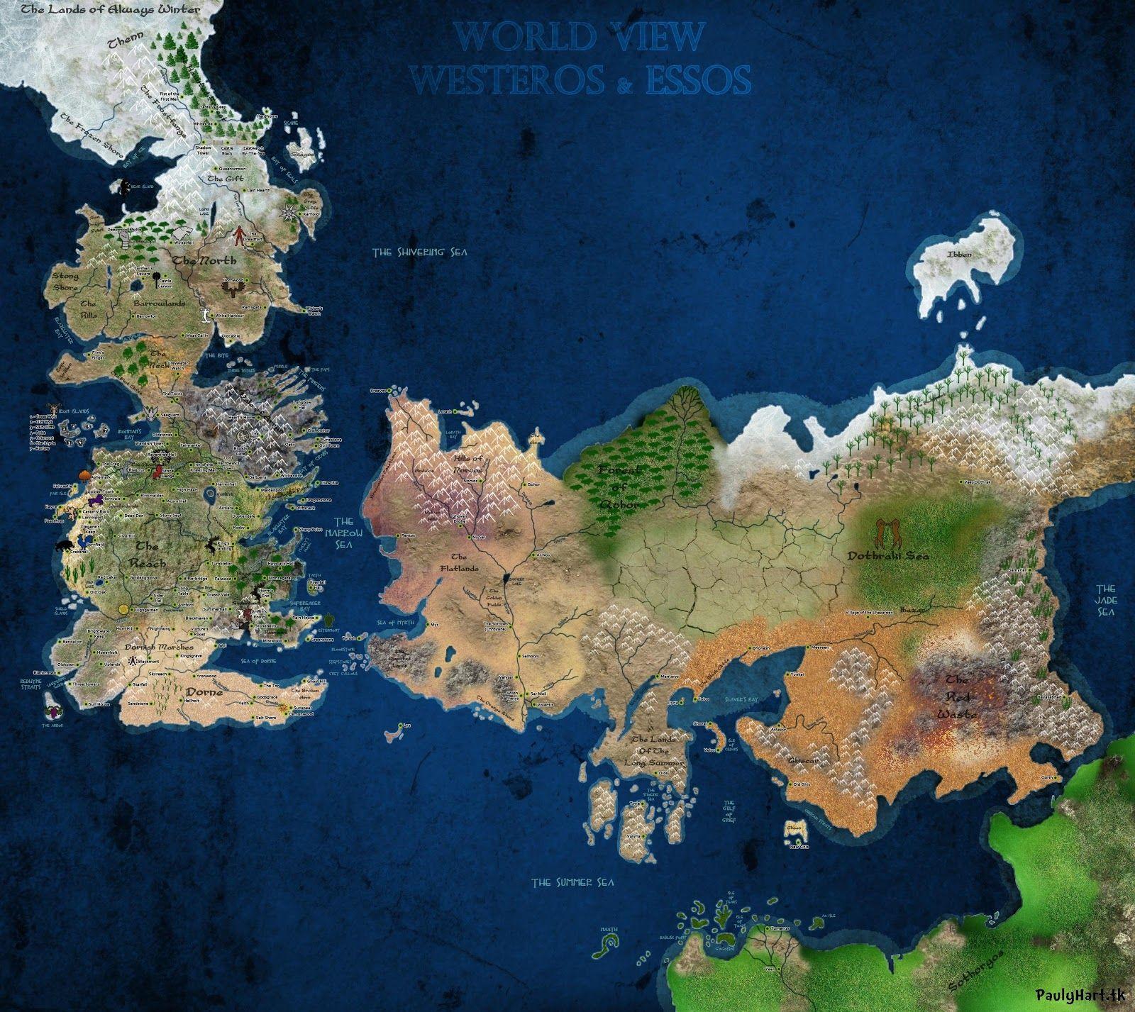 Mapa definitivo Juego de Tronos principal