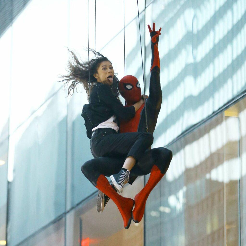 Zendaya y Spider-man, colgados por los spoilers.