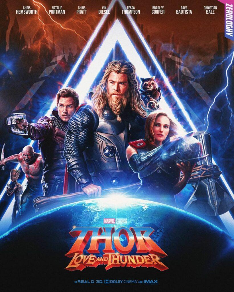 """Poster de """"Thor: love and thunder"""", cuarta película de Thor en solitario."""