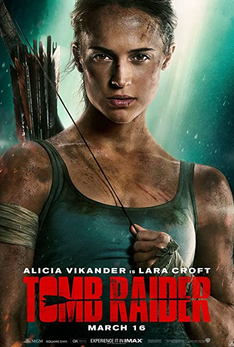 """Poster de """"Tomb Raider"""" con Alicia Vikander."""