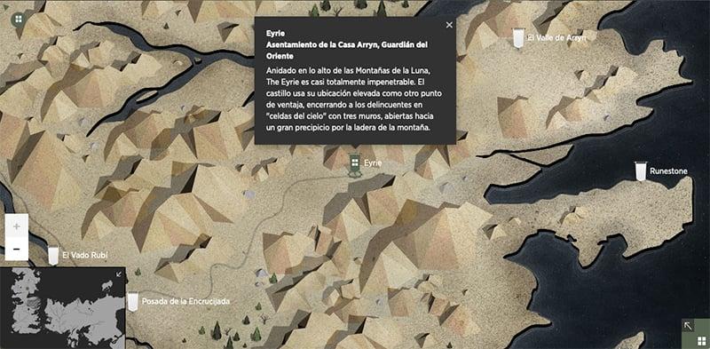 Mapa Juego de Tronos interactivo