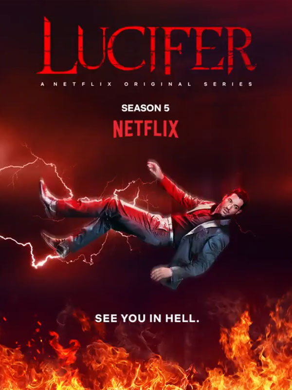 "Póster de la temporada 5 de ""Lucifer""."