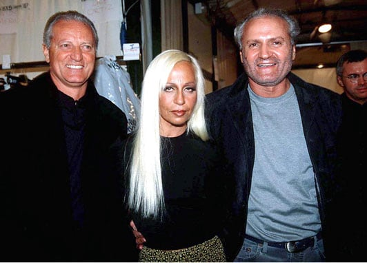 Santo, Donatella y Gianni Versace.