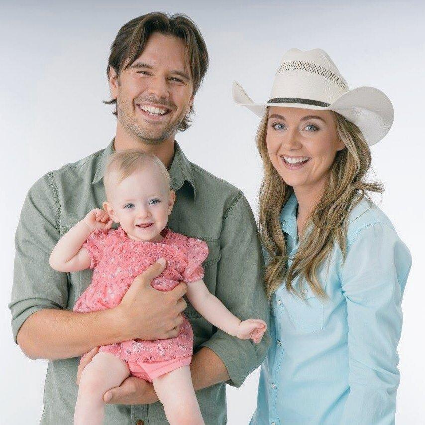 """Familia feliz en """"Heartland""""."""