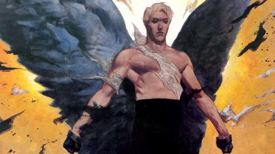 Lucifer rubio en los cómics originales.
