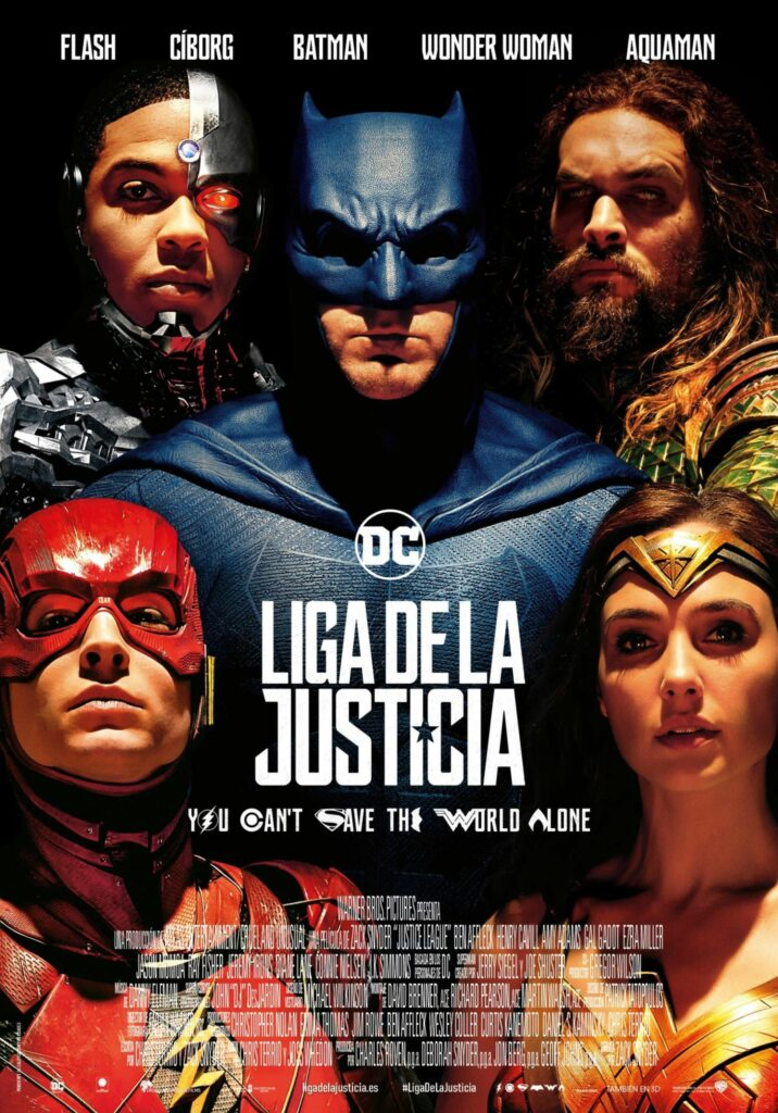 "Póster de la ""Liga de la Justicia"" de 2017."
