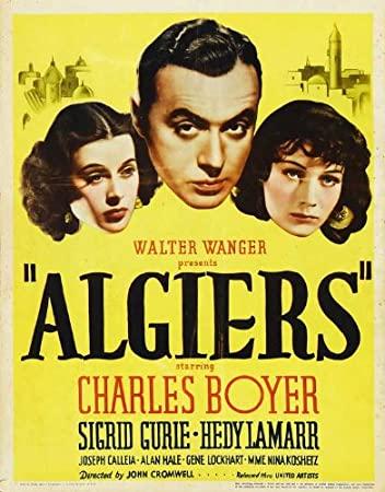 """Póster de """"Argel"""", el debut en Hollywood de Hedy Lamarr."""
