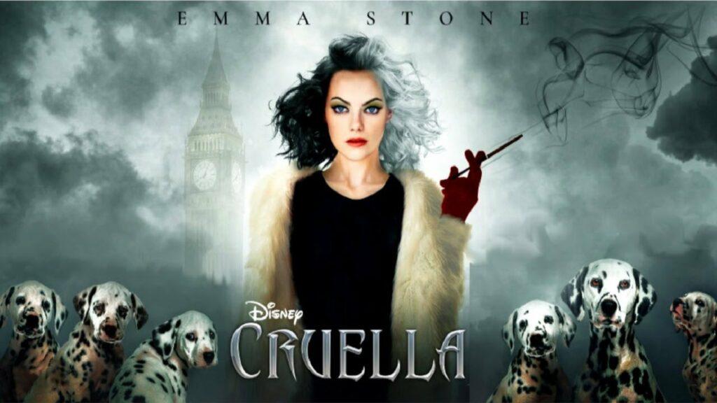 """Emma Stone en una imagen promocional lanzada a la vez que el tráiler de """"Cruella""""."""