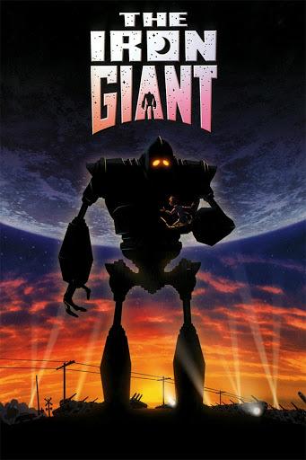 """Póster de """"El gigante de hierro""""."""
