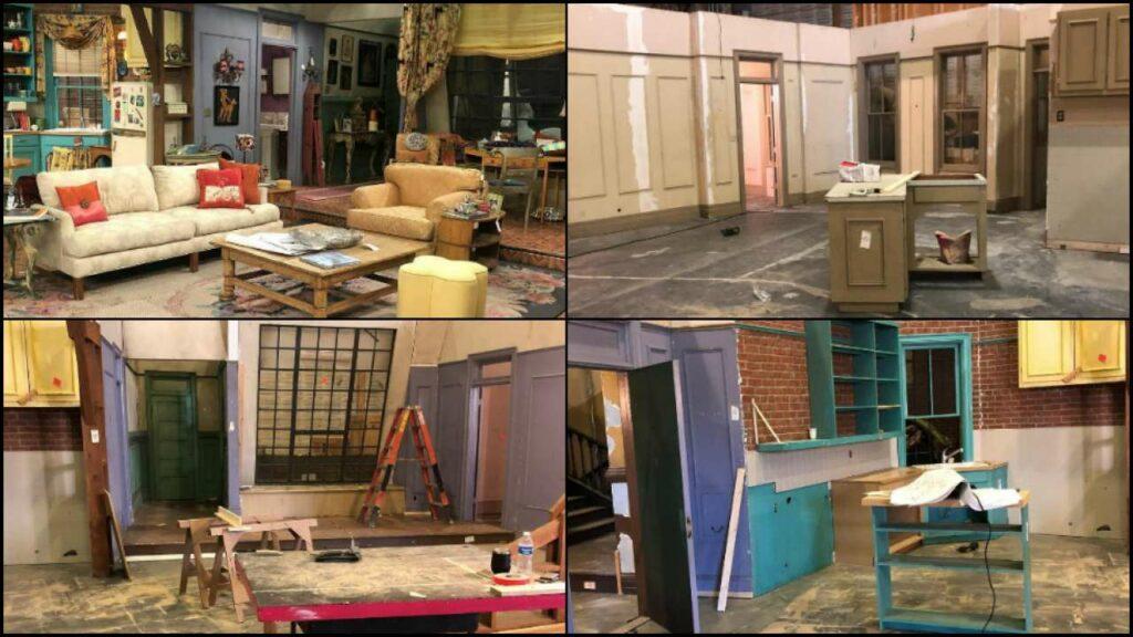 """""""Friends: la reunión"""", reconstruyendo el apartamento."""