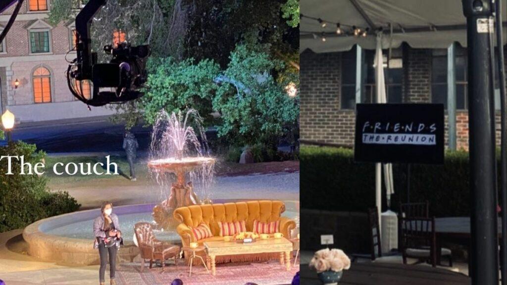 """El sofá y la fuente de """"Friends: la reunión""""."""