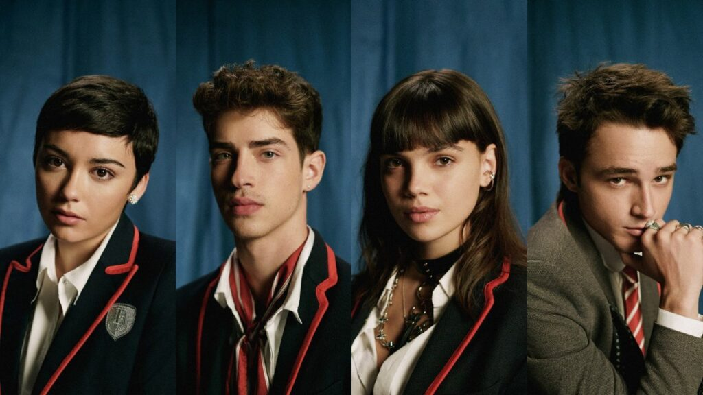 """Las cuatro caras nuevas de """"Élite"""", temporada 4."""