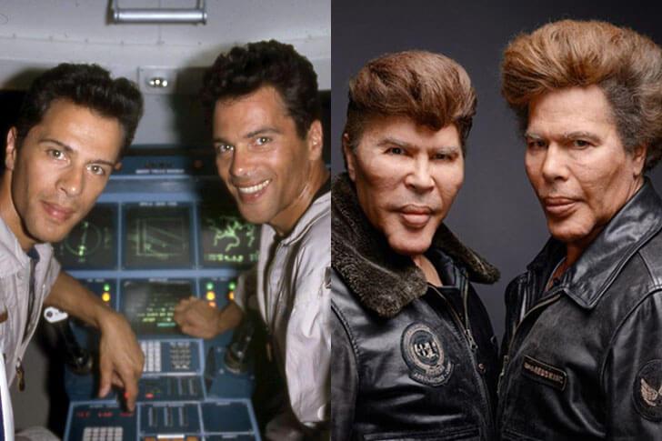 Los gemelos Bogdanoff, antes y después.