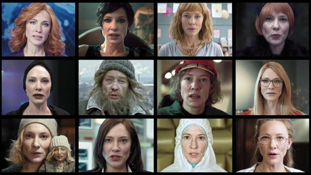 """Los 12 personajes de Cate Blanchett en """"Manifesto""""."""