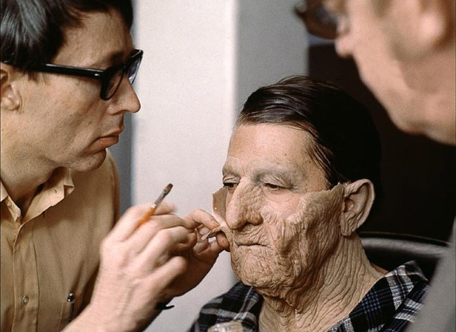 """Envejeciendo a Dustin Hoffman en """"Pequeño gran hombre""""."""