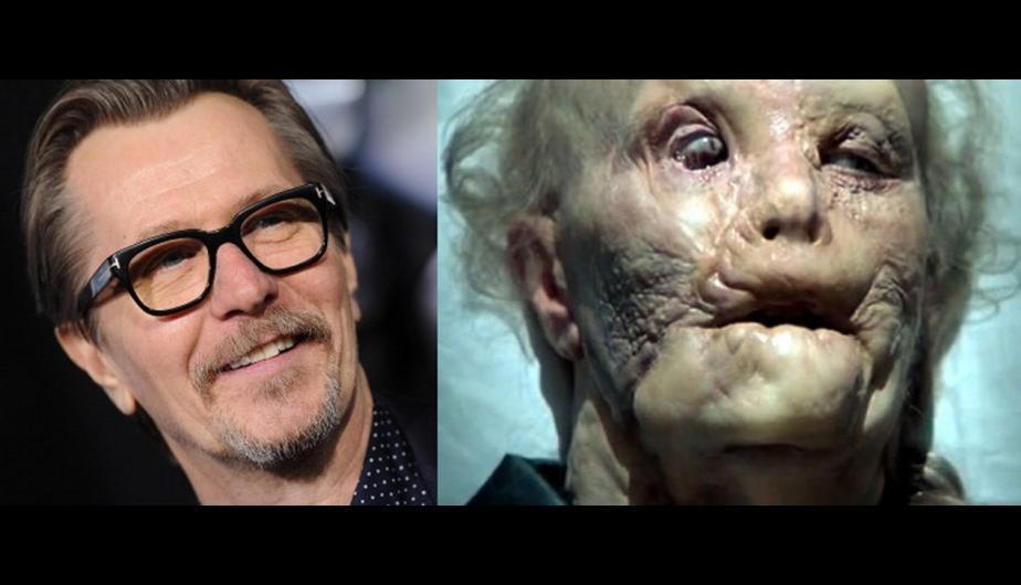 """Gary Oldman, antes y después del maquillaje en """"Hannibal""""."""