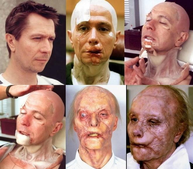 """6 grados del maquillaje de Gary Oldman para """"Hannibal""""."""