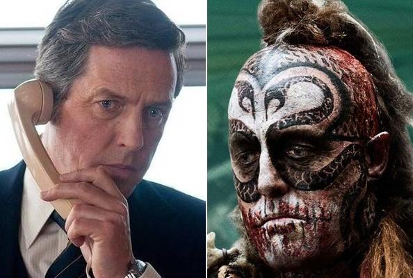 """Hugh Grant, antes y después del maquillaje para """"El atlas de las nubes""""."""