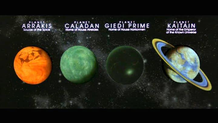 """Los planetas de """"Dune""""."""