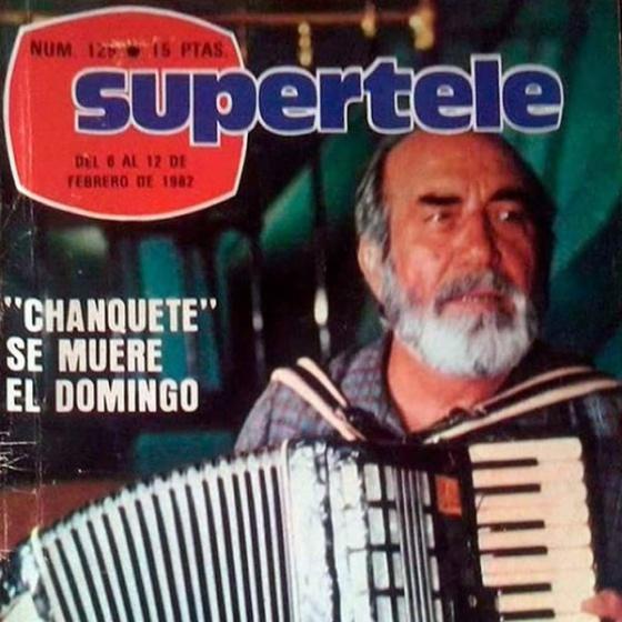 "Portada de Supertele: ""Chanquete se muere el domingo""."