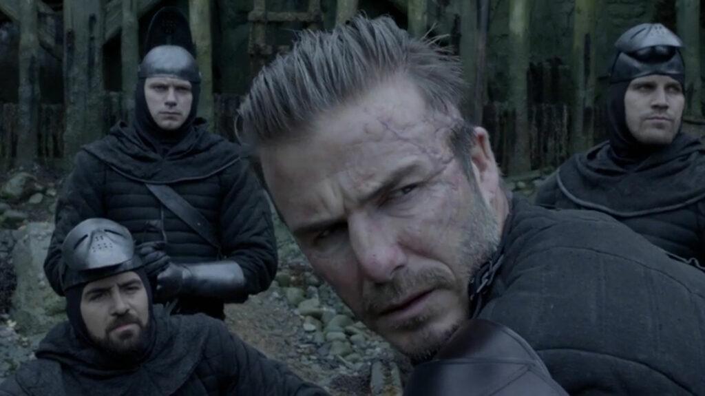 """David Beckham en """"Rey Arturo"""": otro ejemplo de deportistas en el cine."""