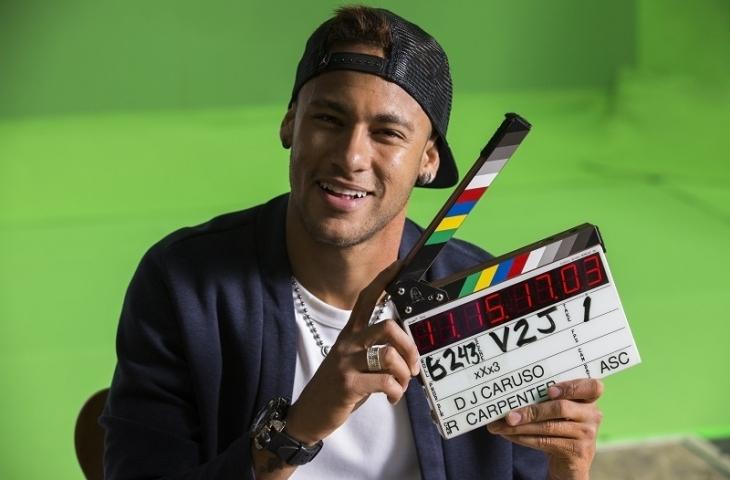 """Neymar en el rodaje de """"xXx: reactivado""""."""