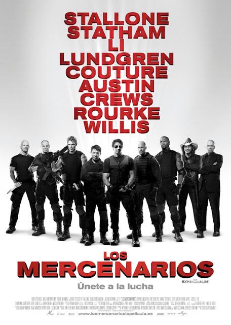 """Póster de la primera entrega de la saga a la que pertenece """"Los mercenarios 4""""."""