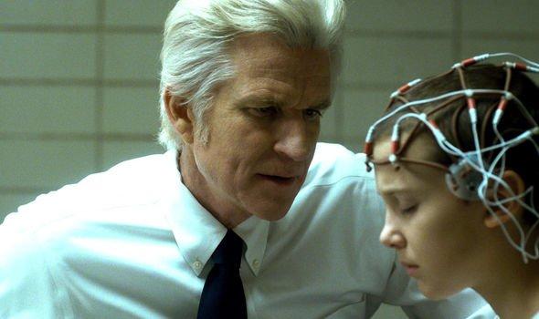 "Matthew Modine en la temporada 1 de ""Stranger Things""."