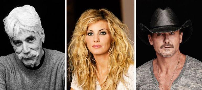 """Sam Elliott, Faith Hill y Tim McGraw, los tres protagonistas de la precuela de """"Yellowstone""""."""
