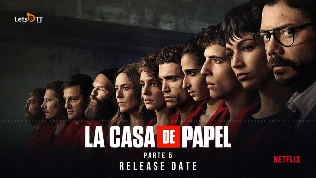 "Póster de ""La casa de papel"", temporada 5."